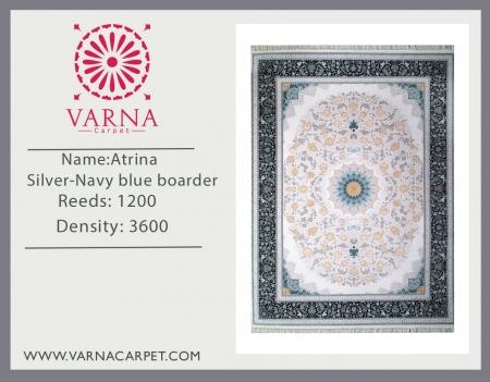 Atrina Silver-Navy blue boarder