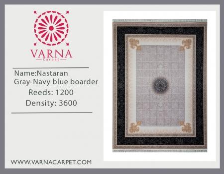 Nastaran Gray-Navy blue boarder